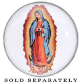 00 Gauge Our Lady of Guadalupe Steel Screw Fit Plug