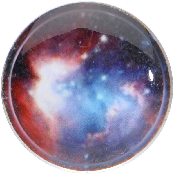 5/8 Acrylic Plum Nebula Double Flare Saddle Plug