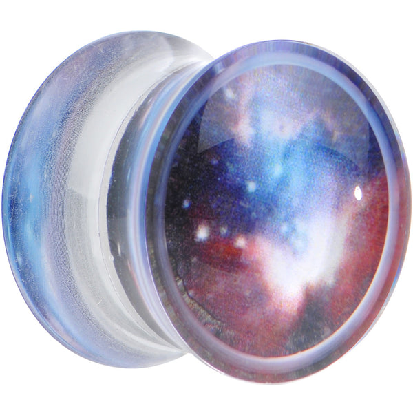 9/16 Acrylic Plum Nebula Double Flare Saddle Plug