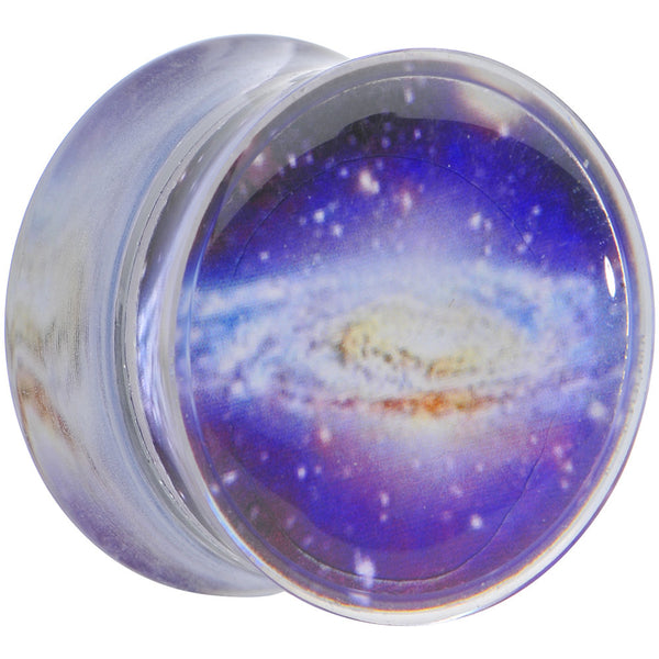 5/8 Acrylic Purple Galaxy Double Flare Saddle Plug