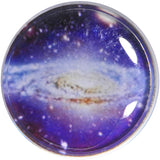 7/8 Acrylic Purple Galaxy Double Flare Saddle Plug