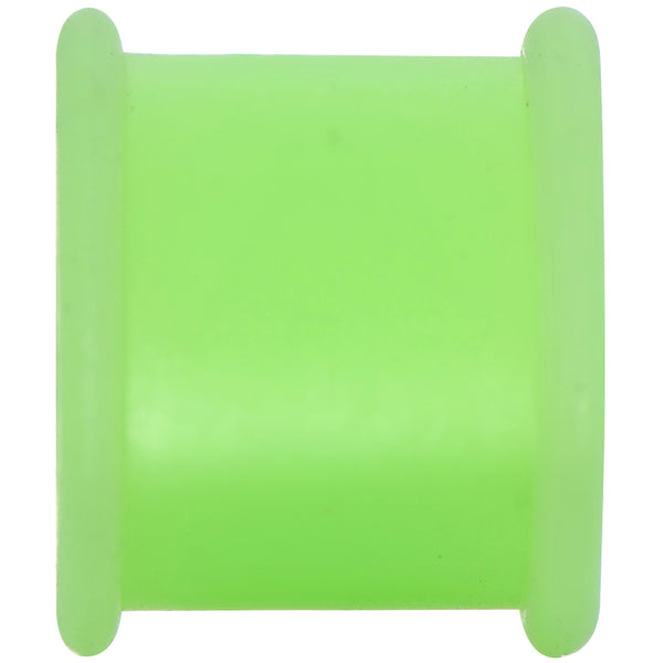 7/16 Green Silicone Back to Nature Cut Out Pot Leaf Saddle Plug