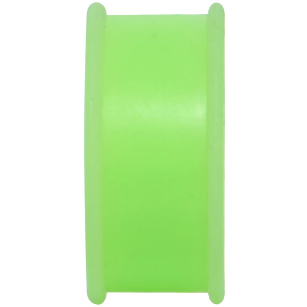 7/8 Green Silicone Back to Nature Cut Out Pot Leaf Saddle Plug