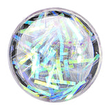 0 Gauge Stainless Steel Opalescent Confetti Party Saddle Plug