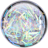 1/2 Stainless Steel Opalescent Confetti Party Saddle Plug