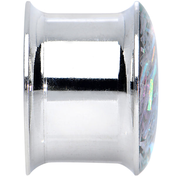 9/16 Stainless Steel Opalescent Confetti Party Saddle Plug