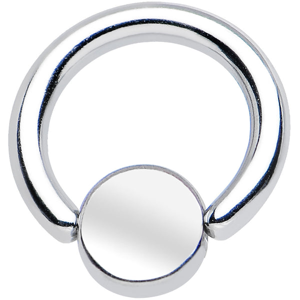16 Gauge 1/4 BCR Steel Captive Ring 4mm Flat Disc