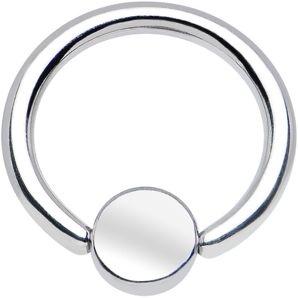 "16 Gauge 5/16"" BCR Steel Captive Ring 4mm Flat Disc"