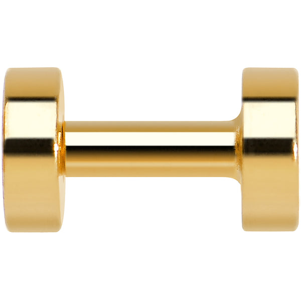 10 Gauge PVD Gold Titanium Screw Fit Tunnel