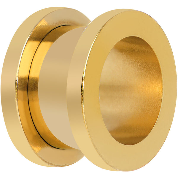 1/2 PVD Gold Titanium Screw Fit Tunnel