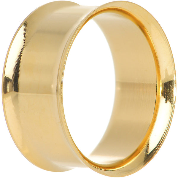 20mm PVD Gold Titanium Double Flare Tunnel