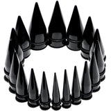 00 Gauge to 1 inch 18 Piece Black Acrylic Ear Stretching Taper Kit