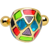 925 Silver Gold Plated Colorful Turtle Shell Tragus Cartilage Earring