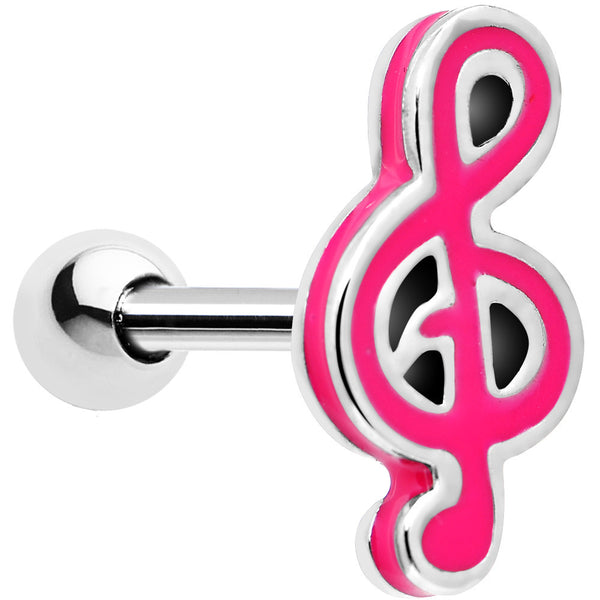 14 Gauge Perfect Pitch Pink Note Cartilage Tragus Earring