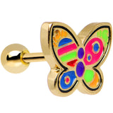 Gold Plated Bright and Beautiful Butterfly Cartilage Tragus Earring