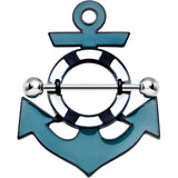 Lifesaver Ring and Teal Nautical Anchor Nipple Shield