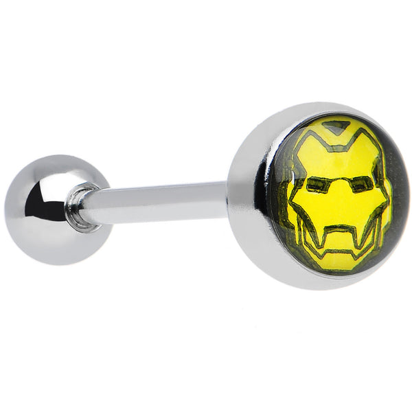 14 Gauge Officially Licensed Marvel Iron Man Tongue Ring 5/8""