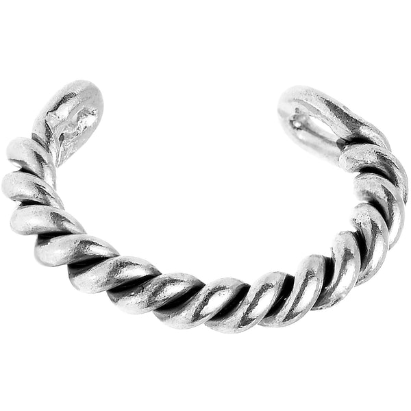 925 Silver Coiled Ring Ear Cuff