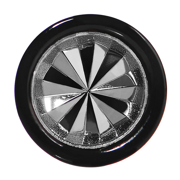 0 Gauge Black Acrylic Grey Dual Flashy Tire Rim Cheater Plug