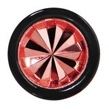 0 Gauge Black Acrylic Red Dual Flashy Tire Rim Cheater Plug