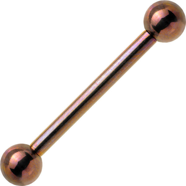 "12 Gauge 3/4"" Bronze Anodized Titanium Straight Barbell"