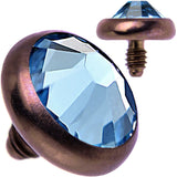 14 Gauge 4mm Aqua Gem Bronze Anodized Titanium Dermal Top