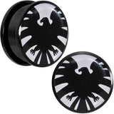 1 inch Licensed Hawkeye Logo Acrylic Screw Fit Plugs Set