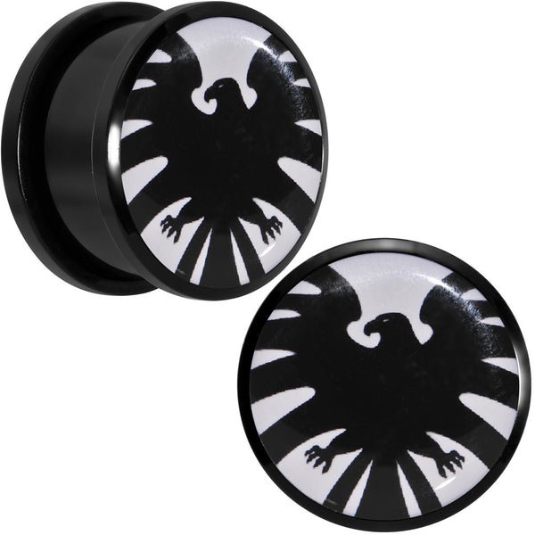 3/4 Licensed Hawkeye Logo Acrylic Screw Fit Plugs Set