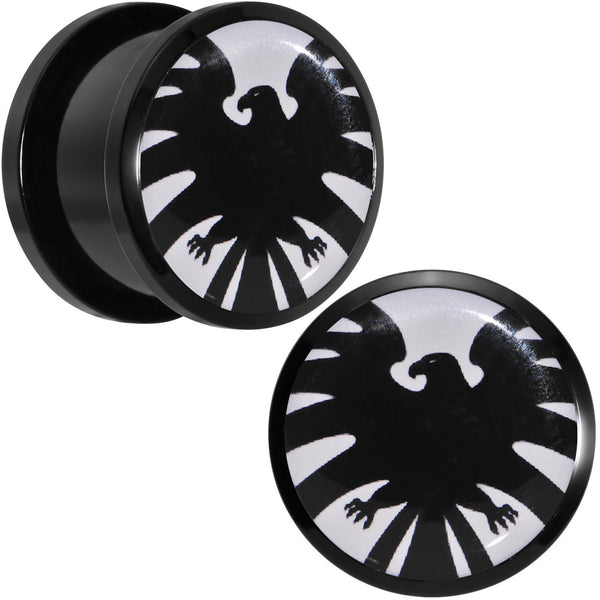 "5/8"" Licensed Hawkeye Logo Acrylic Screw Fit Plugs Set"