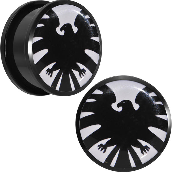 "7/8"" Licensed Hawkeye Logo Acrylic Screw Fit Plugs Set"