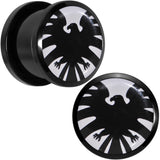 "9/16"" Licensed Hawkeye Logo Acrylic Screw Fit Plugs Set"