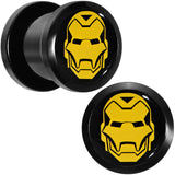 00 Gauge Licensed Iron Man Acrylic Screw Fit Plugs Set
