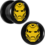 1/2 Licensed Iron Man Acrylic Screw Fit Plugs Set
