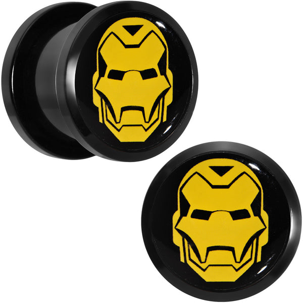 "1/2"" Licensed Iron Man Acrylic Screw Fit Plugs Set"