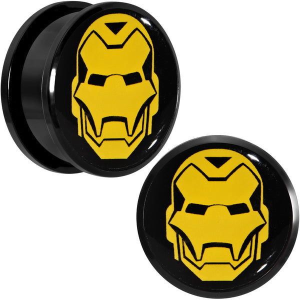 "1"" Licensed Iron Man Acrylic Screw Fit Plugs Set"