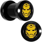 2 Gauge Licensed Iron Man Acrylic Screw Fit Plugs Set