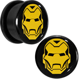3/4 Licensed Iron Man Acrylic Screw Fit Plugs Set