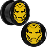 "5/8"" Licensed Iron Man Acrylic Screw Fit Plugs Set"