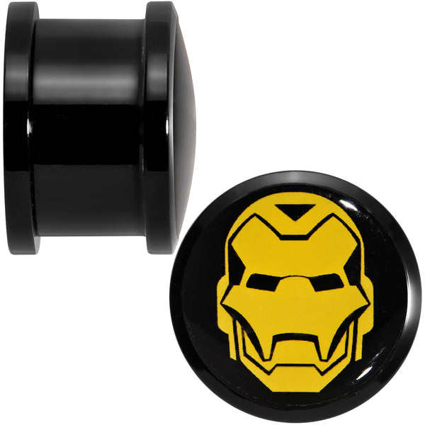 5/8 Licensed Iron Man Acrylic Screw Fit Plugs Set