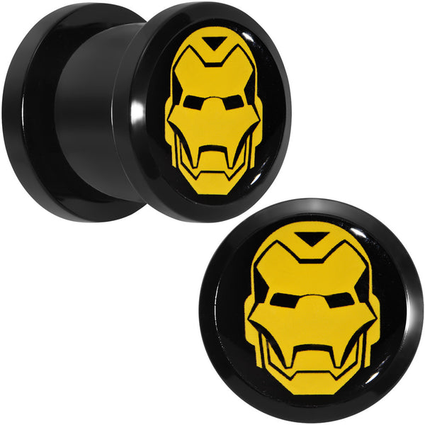 "7/16"" Licensed Iron Man Acrylic Screw Fit Plugs Set"