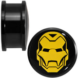 "7/8"" Licensed Iron Man Acrylic Screw Fit Plugs Set"
