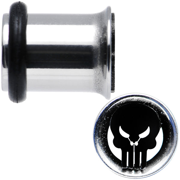 2 Gauge Licensed The Punisher Single Flare Steel Tunnel Plugs Set