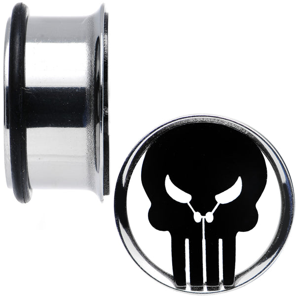 3/4 Licensed The Punisher Single Flare Steel Tunnel Plugs Set