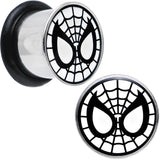 00 Gauge Licensed Spider-Man Single Flare Steel Tunnel Plugs Set