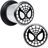 0 Gauge Licensed Spider-Man Single Flare Steel Tunnel Plugs Set