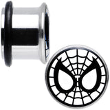 "1/2"" Licensed Spider-Man Single Flare Steel Tunnel Plugs Set"