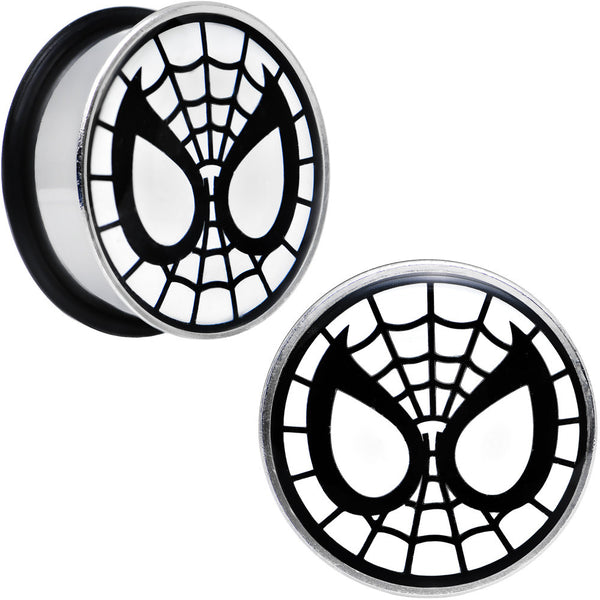 "1"" Licensed Spider-Man Single Flare Steel Tunnel Plugs Set"
