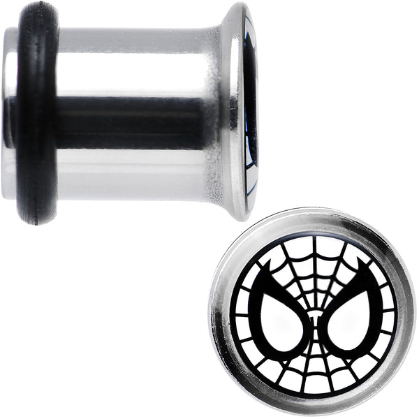 2 Gauge Licensed Spider-Man Single Flare Steel Tunnel Plugs Set
