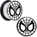 5/8 Licensed Spider-Man Single Flare Steel Tunnel Plugs Set