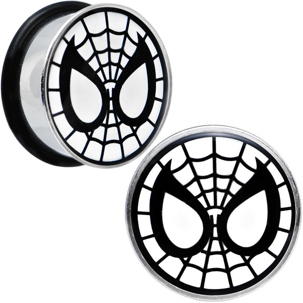 "7/8"" Licensed Spider-Man Single Flare Steel Tunnel Plugs Set"